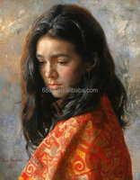 impressionism girl portrait oil painting