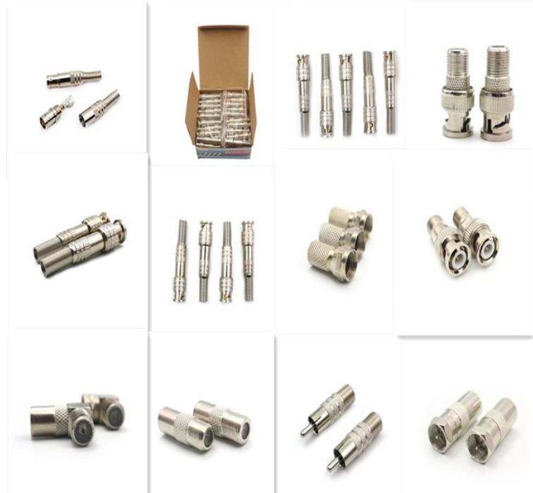 Bnc L104 Cctv Accessories Bnc Male To Short Hexagonal