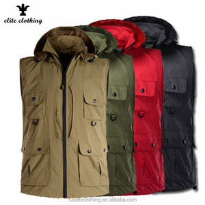 Wholesale Mens Top Quality Outdoor Wear Blank Vest Cheap