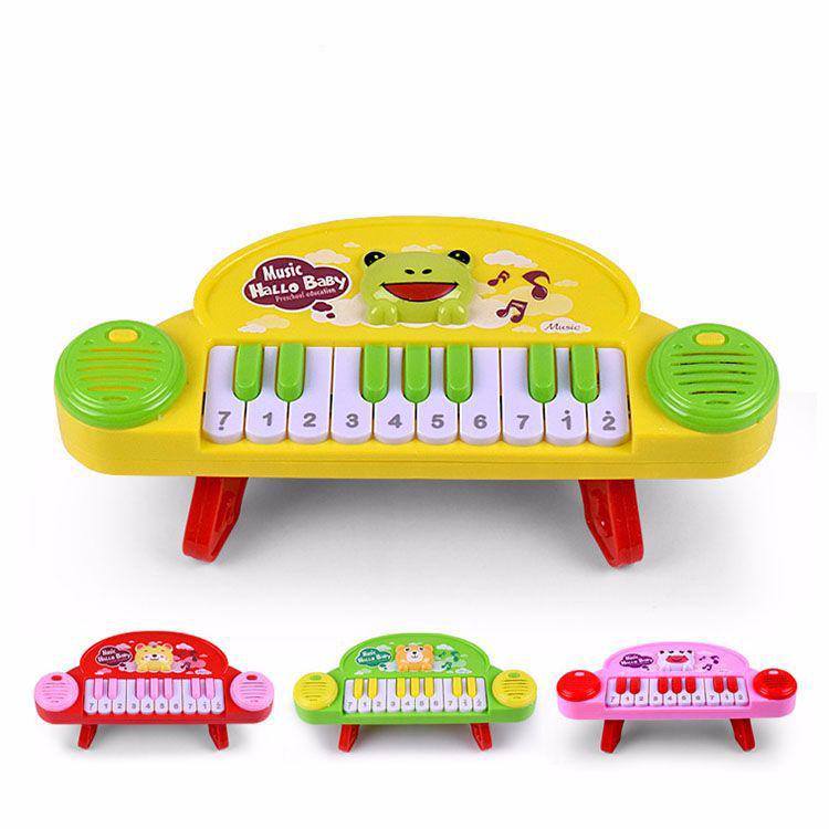 رائجة البيع البلاستيك مضحك العاب الموسيقى للاطفال البلاستيك البيانو لعبة دمية موسيقية للأطفال