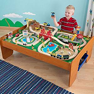 Get Quotations · Kids Wooden 100-Piece Toy Train Cars Table Set- Let Your Kids Imagination Creativity  sc 1 st  Alibaba & Cheap Wood Train Sets For Kids find Wood Train Sets For Kids ...