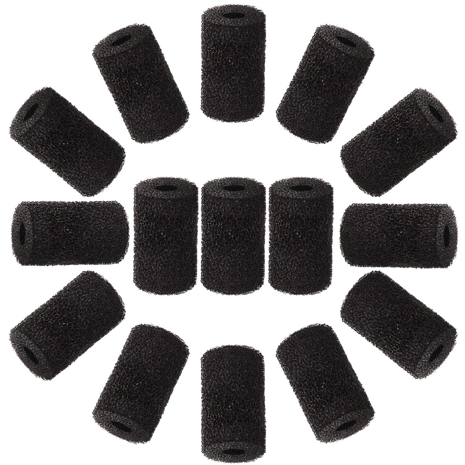 WXJ13 15 Packs Pool Cleaner Hose Tail Sweep Hose Scrubber for Sweep Pool Cleaner, Black