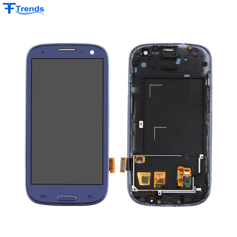 High Quality for Mobile Samsung S3 LCD Display Touch Digitizer with Frame I9300 I9305 Screen Replacement Factory Price