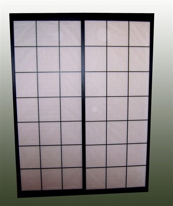 De madera maciza puerta corredera shoji con papel shoji - Puertas shoji ...