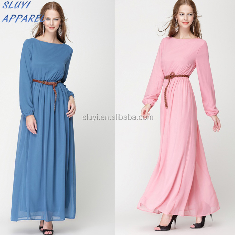 2017 islamic clothing plus size chiffon muslim long dress Wholesale Price New Unique African Dresses abaya clothes