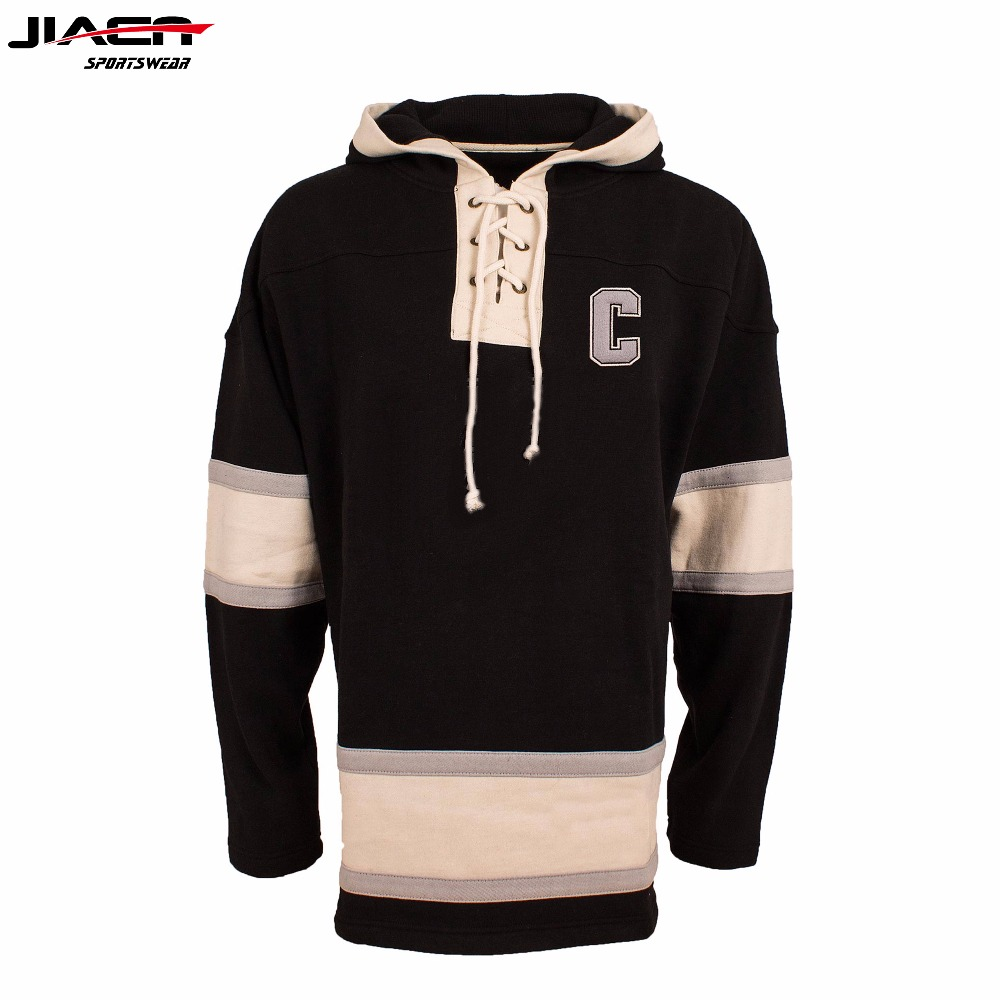 High Hockey Hoodie Custom Wholesale Sport Lace Hoodie Sublimation ... 2f86ad6a308