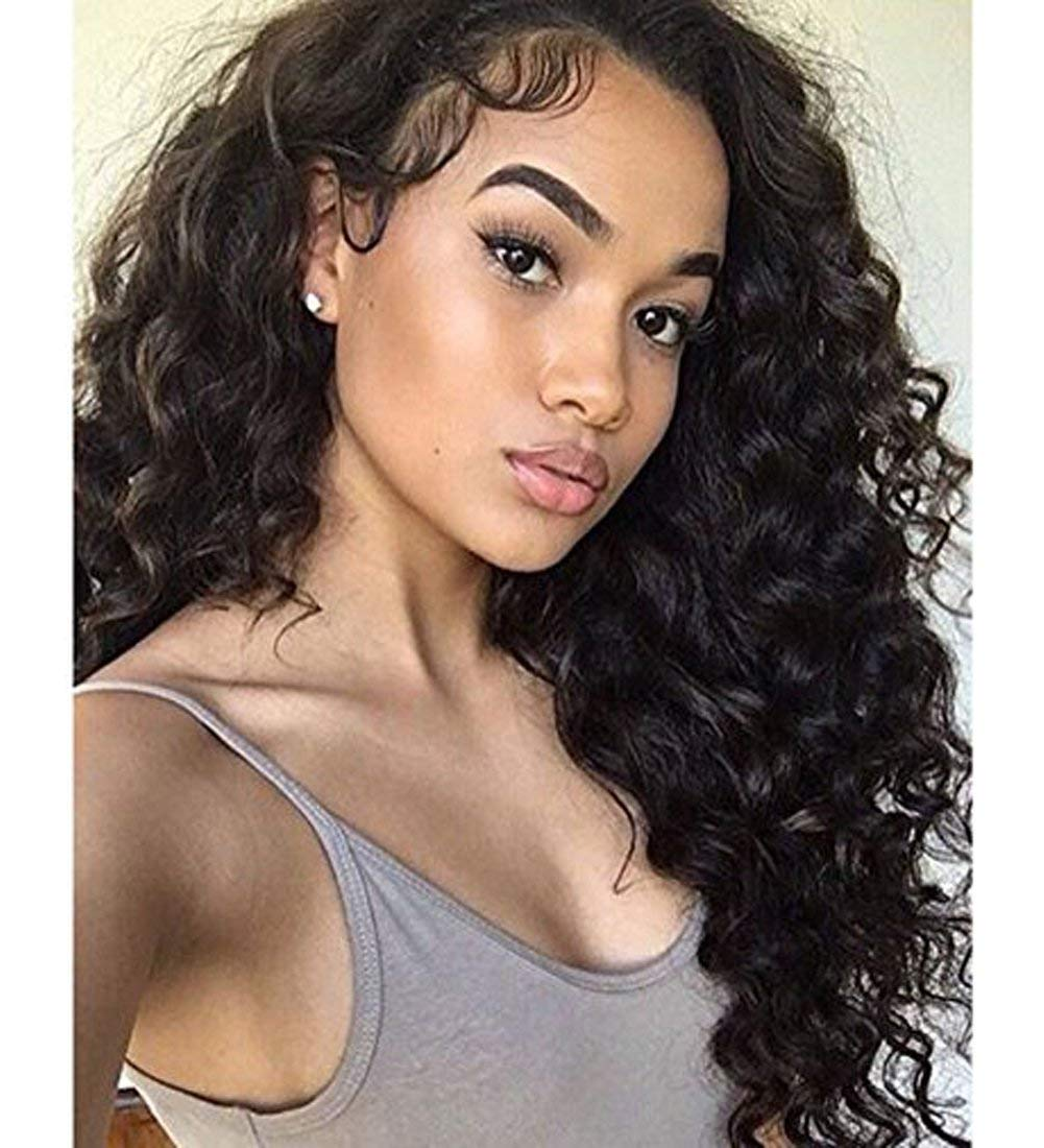 """360 Lace Front Wig Pre Pluncked 360 Lace Wig Human Hair Wigs 150% Density Curly Wigs Brazilian Virgin Human Hair Wigs for Women with Baby Hair Body Wave Wigs for Updo High Ponytail Any Part 16"""""""