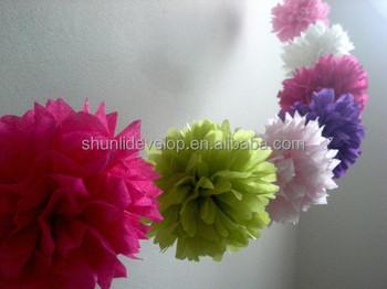 Tissue paper flower garland for weddingparty decoration buy paper tissue paper flower garland for weddingparty decoration mightylinksfo