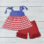 wholesale children girls boutique outfits remake kids spring summer 4th of july baby girl set