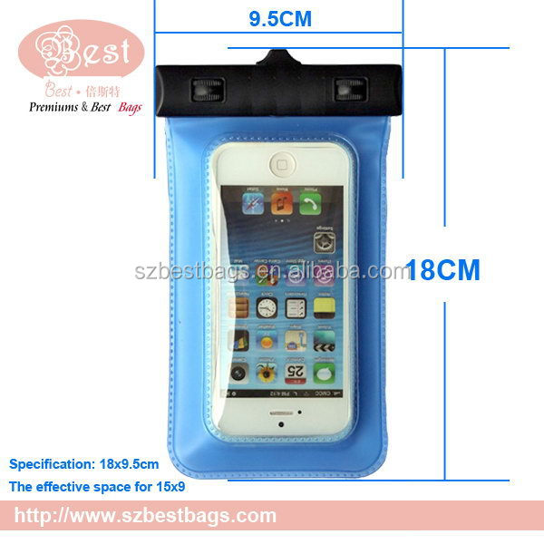 wholesale waterproof cell phone neck hanging bag