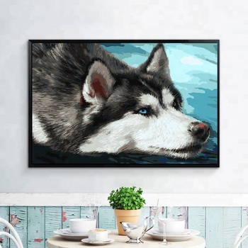 Handpainted Diy 3d Canvas Wall Art Painting Wolf Diamond Painting Full Drill Buy 3d Canvas Painting Canvas Wall Art Painting 3d Diamond Painting