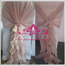 SCS004 Curly Willow Fancy Ruffle Chair Sash For Weddings