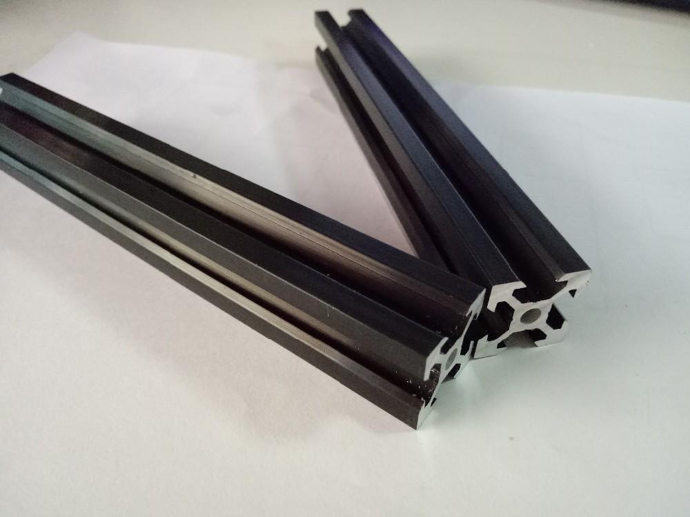 Black v slot aluminum profile 2020 V-slot industrial aluminium rail
