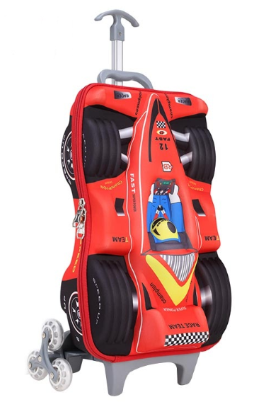 New 2 Wheels Trolley Bag Kids School Bag With 3d Cartoon Picture ... da8bd28021