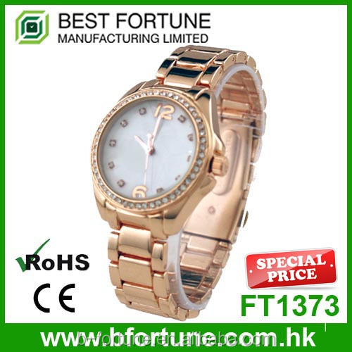 FT1373 Cheapest alloy band rose gold pc21 movement fashion lady watch
