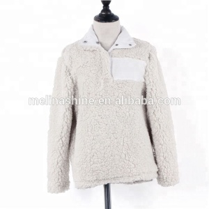 Wholesale Popular Monogram Fleece Kids Sherpa Pullover