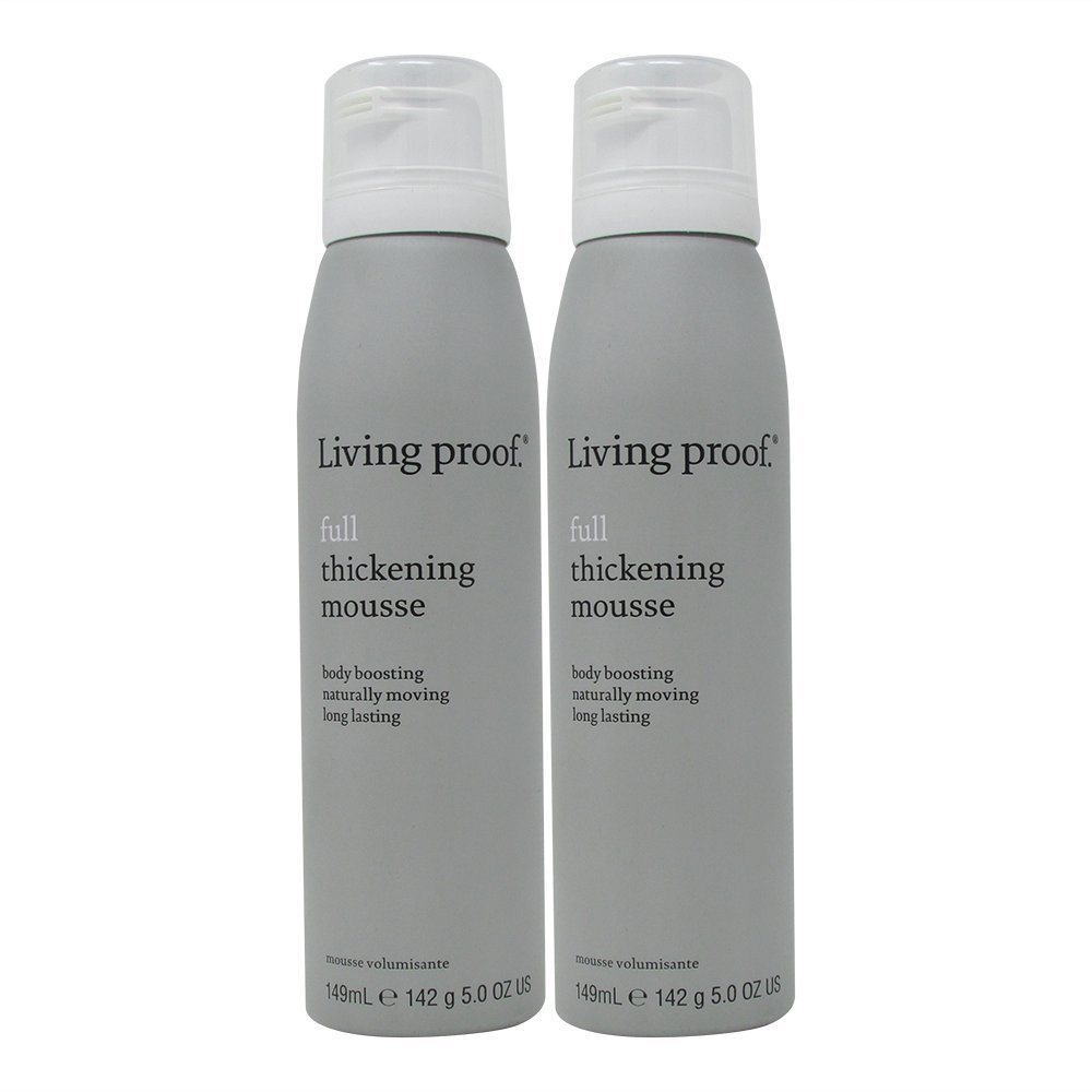 Bundle -2 items : Living Proof Full Thickening Mousse, 5 Oz (Pack of 2)