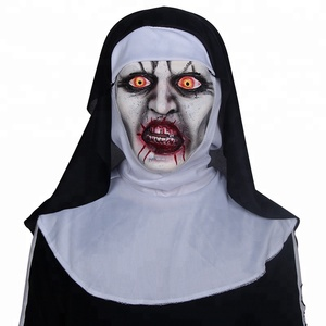 Direct Price High Quality Creepy Halloween latex mask Horror Nun Mask