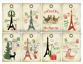 Vintage Collage Paris Christmas Tags Digital Download Images Print ...
