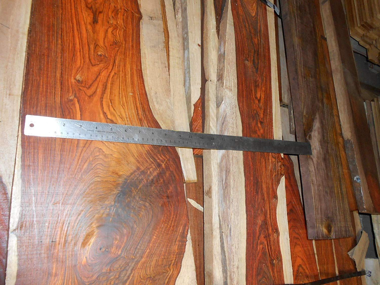 2 board feet of planed, figured cocobolo rosewood, kiln dried true ROSEWOOD