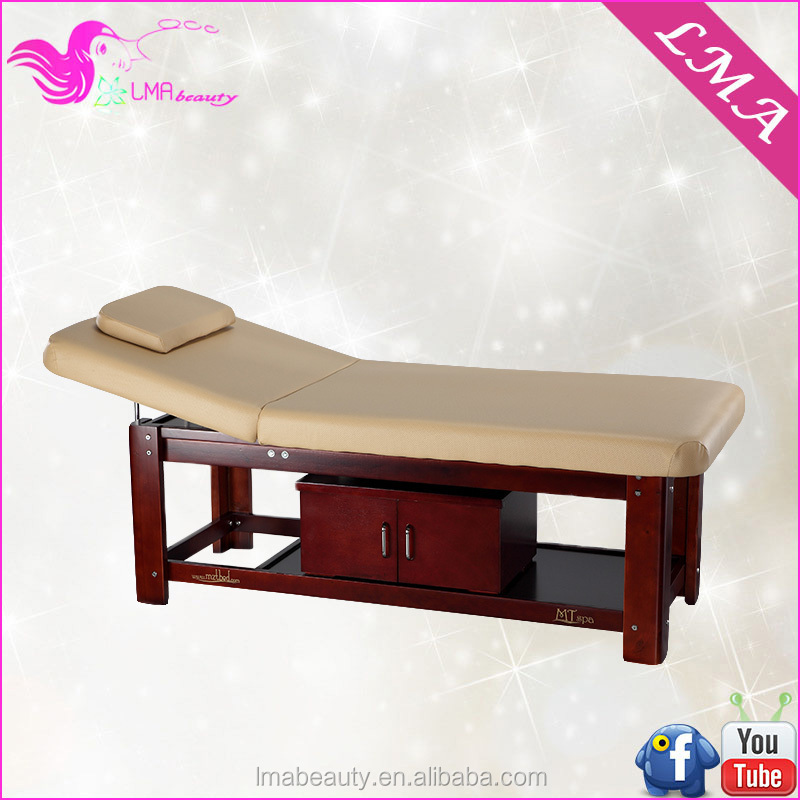 Ma 41 wooden spa bed wood massage table bed for beauty for Beauty on table