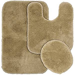 Garland Rug 3-Piece Finest Luxury Ultra Plush Washable Nylon Bathroom Rug Set, Taupe by Garland Rug