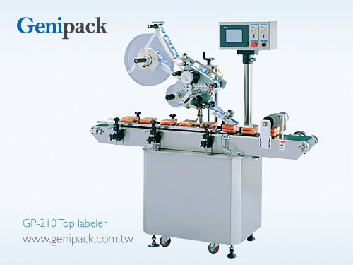 Top labeler - for top labeling on the flat products