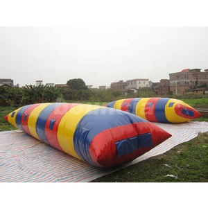 Big Colorful Lake Inflatable Water Blob , Inflatable Water Launch For Sale