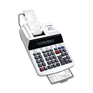 "Canon Products - 12-Digit Calculator, 2-Color Printing, 8-7/8""x13-1/8""x3"" - Sold as 1 EA - 12-digit heavy-duty printing calculator features extra-large fluorescent tube display and high-speed ribbon two-color printing. Print 4.8 lines per second with positive numbers in black and negative numbers"