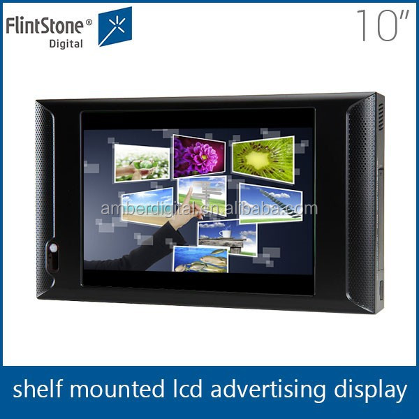 Flintstone 10 inch indoor led small screen display 10 inch multi layer touch screen kiosk enclosure
