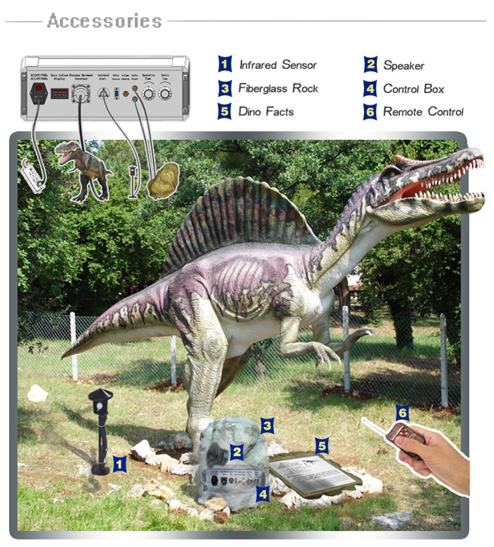 High Simulation Lifesize Dinosaur Model Amusement Park Dinosaur