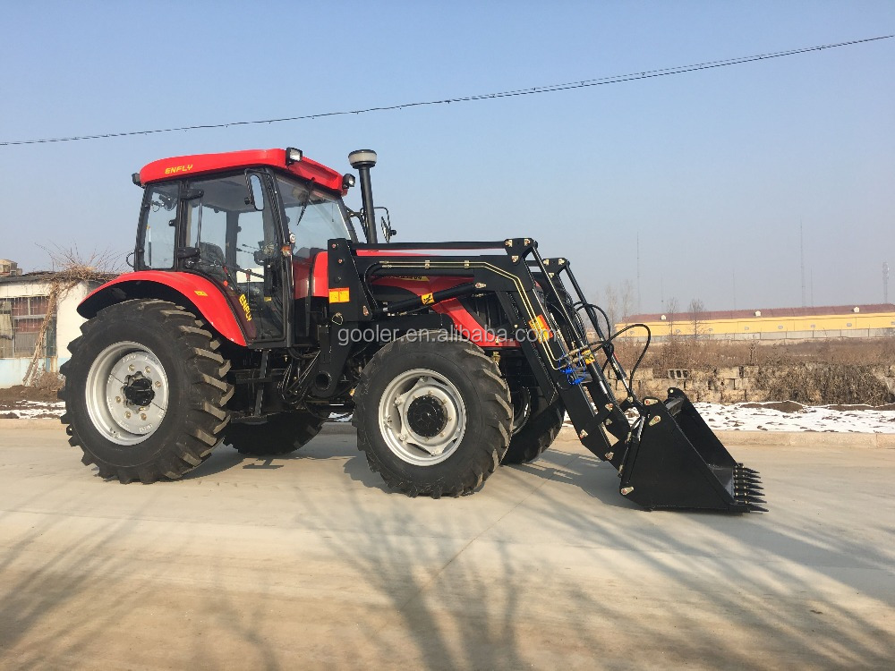 120HP, 130HP 4x4 big tractor with 4in1 front end loader, 4in1 FEL, slasher mower etc.