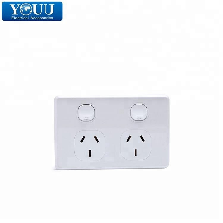 YOUU Paling Dicari Produk Double PowerPoint Australia Wall Switch Socket Set