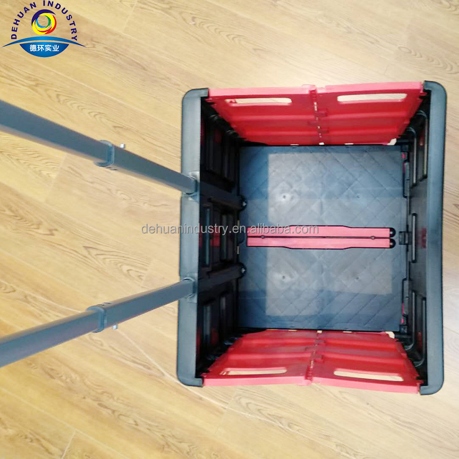 Plastic Foldable Shopping Cart Home Use