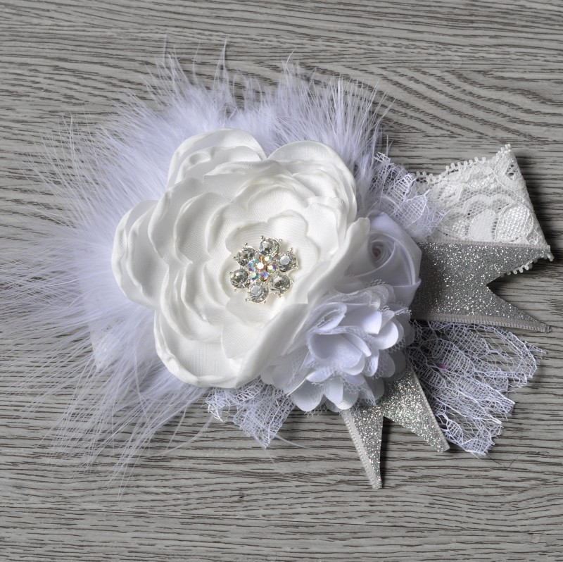 Beautiful Kids Feather <strong>Hair</strong> <strong>Accessories</strong> Wide Lace Headband With Multi Layers Flowers