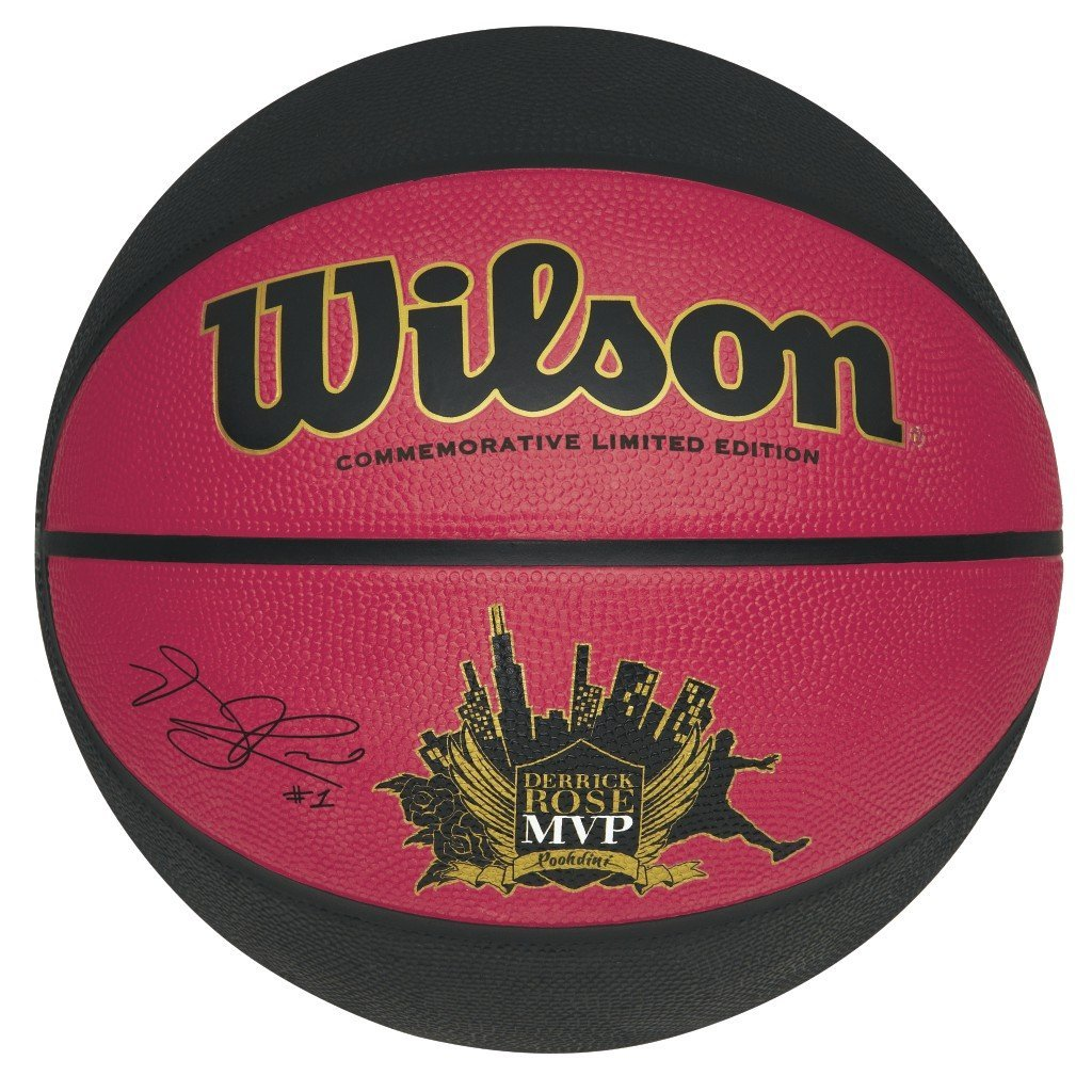 ffb12e2eebb Get Quotations · Wilson Derrick Rose MVP Limited Edition Basketball  (Official 29.5-Inch)