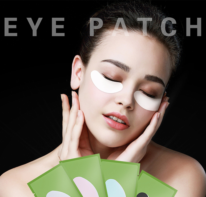 Private Label Zwart Wit Anti-Wallen Hydro Gel Eyepatch Verstevigende Ogen Pad Voor Volwassenen Makeup Eye Lash Extension gebruik
