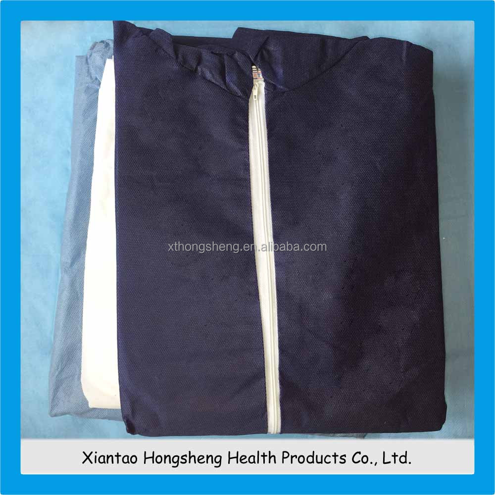 PP+PE coated surgical Isolation Gown with tie on