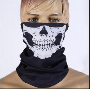 NEW Sport Bike Halloween Skull face mask balaclava Skull Bandana  Paintball Ski Motorcycle Helmet Neck Free Shipping