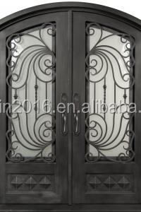 Ordinaire Merlin Wrought Iron Interior Door Arch Top Rustic Wrought Iron Entry Double  Door Modern