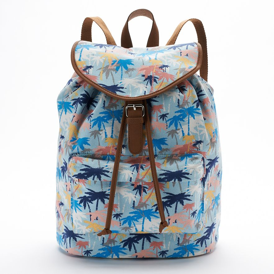 Hawaii style coconut tree custom printing backpack manufacturer