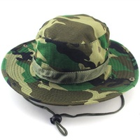 Wide Brim Fishing Hunting Camping Hiking Boonie Cap Military Camo Bucket Hat