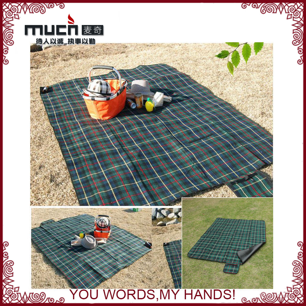 High Quality Picnic Rug With Waterproof Backing Rubber Backed Fold Up Blanket Product On
