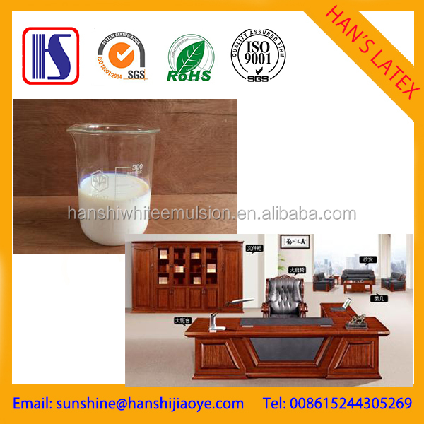 Environmentally friendly white latex /glue water based polyurethane adhesive pvac/wood veneer lamination adhesive