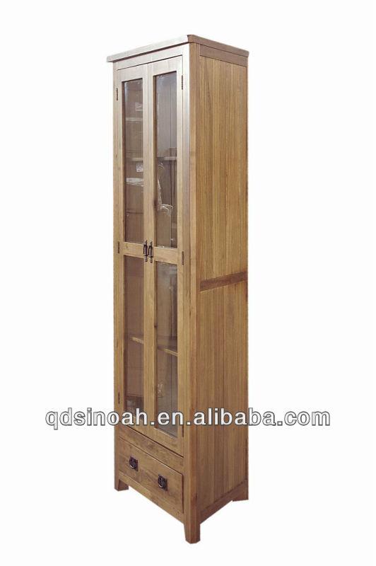 Rustic Oak Wooden Corner Display Cabinet Splay Ad32 Modern