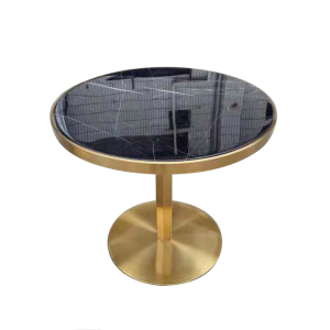 Luxury brass table base round marble top coffee table