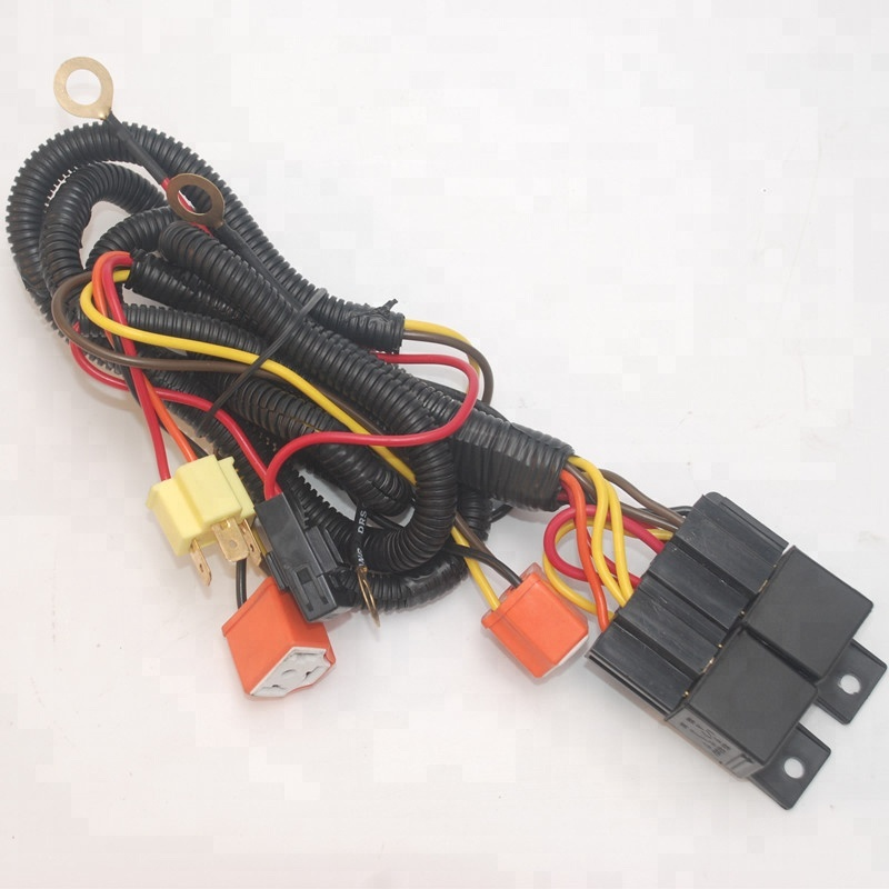 ul h4 auto vehicle hid headlight wiring harness complete with standard relay wiring diagram hid headlight wiring harness #17