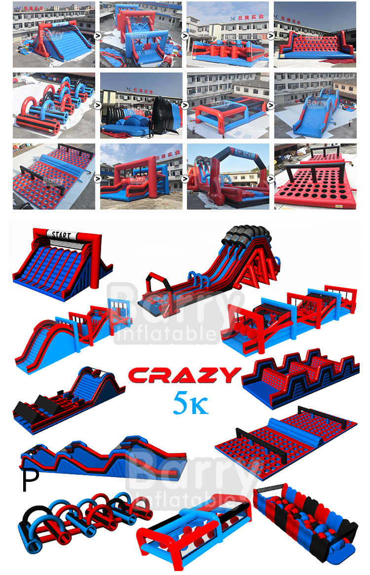 Alibaba Inflatable Guangzhou Barry China inflatable 5k adult inflatable obstacle course for sale