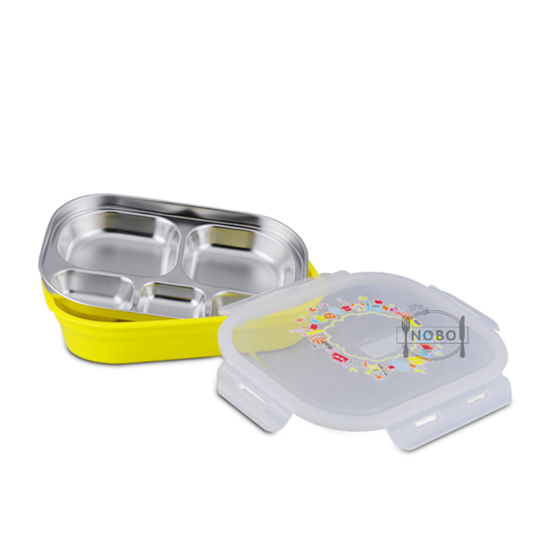 Wholesale Children Lunch Box 5 Divided Food Storage Container