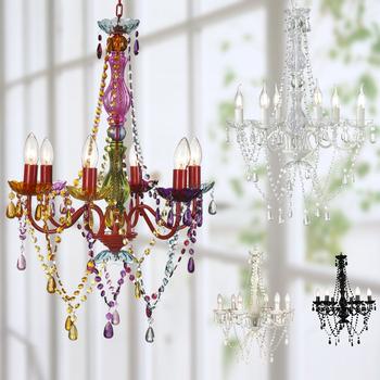 Plastic Kandelaar Kroonluchter Verlichting Gypsy Gekleurde Hanglamp ...